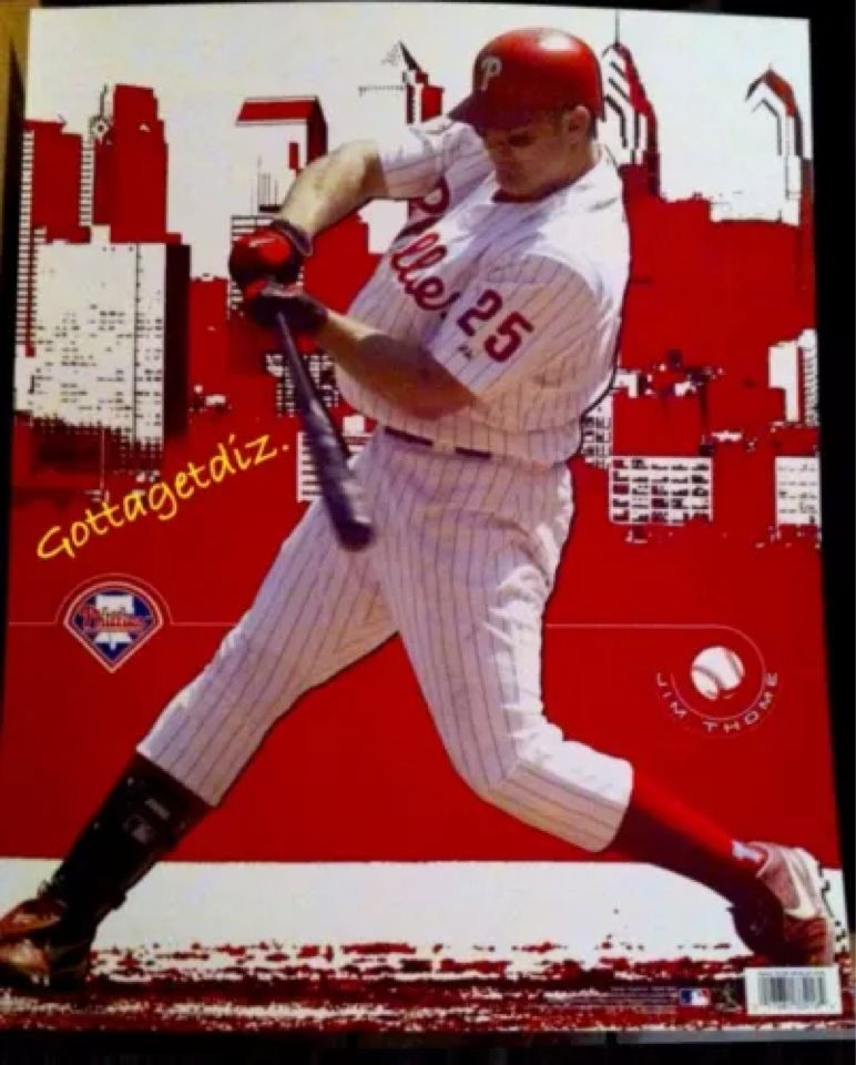 JIM THOME Phillies Poster 2005 Official Licensee MLBP