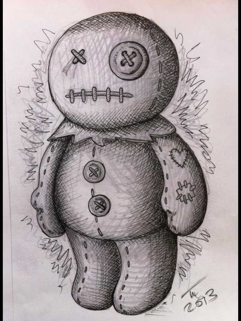 voodoo doll drawings - HD 768×1024