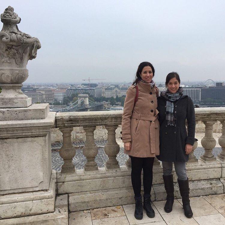 #ispyapi team members Reka and @whereisroni in #budapest #studyabroad