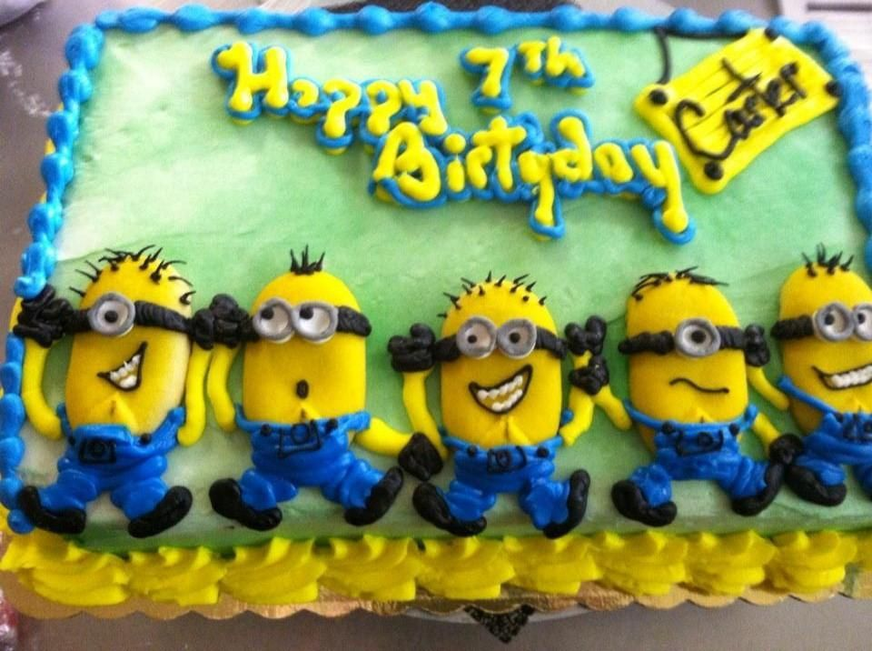 Birthday Cake Images Minions ~ You have to see minions on craftsy looking for cake