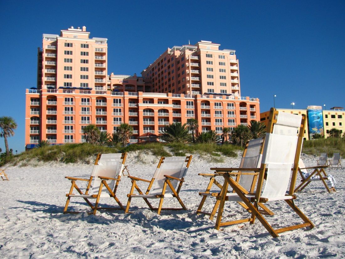 Beach Chairs On Clearwater Beach In Front Of The Hyatt Regency Clearwaterbeach Hyattregency Clearwater Beach Hotels Beach Hotels Clearwater Beach