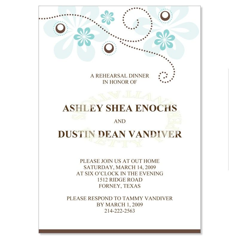 Invitations To Rehearsal Dinner  Wedding Gallery