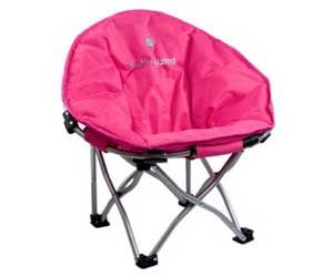 kids comfy pink camping chair. very cool website as well. lots of
