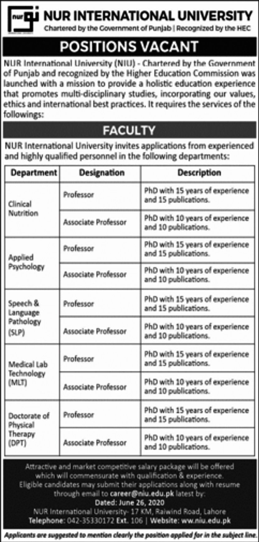 Pin On Lahore Jobs