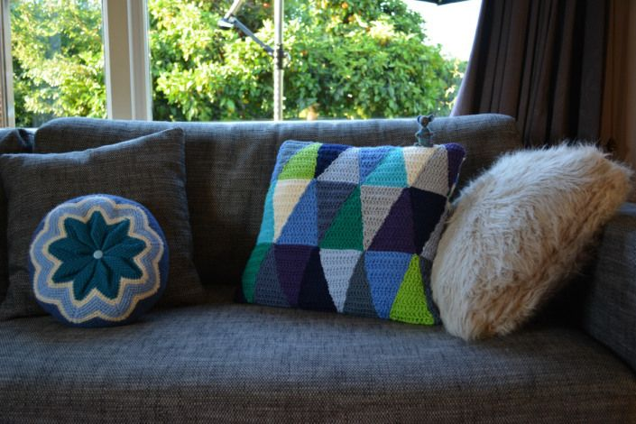 new crocheted cushions