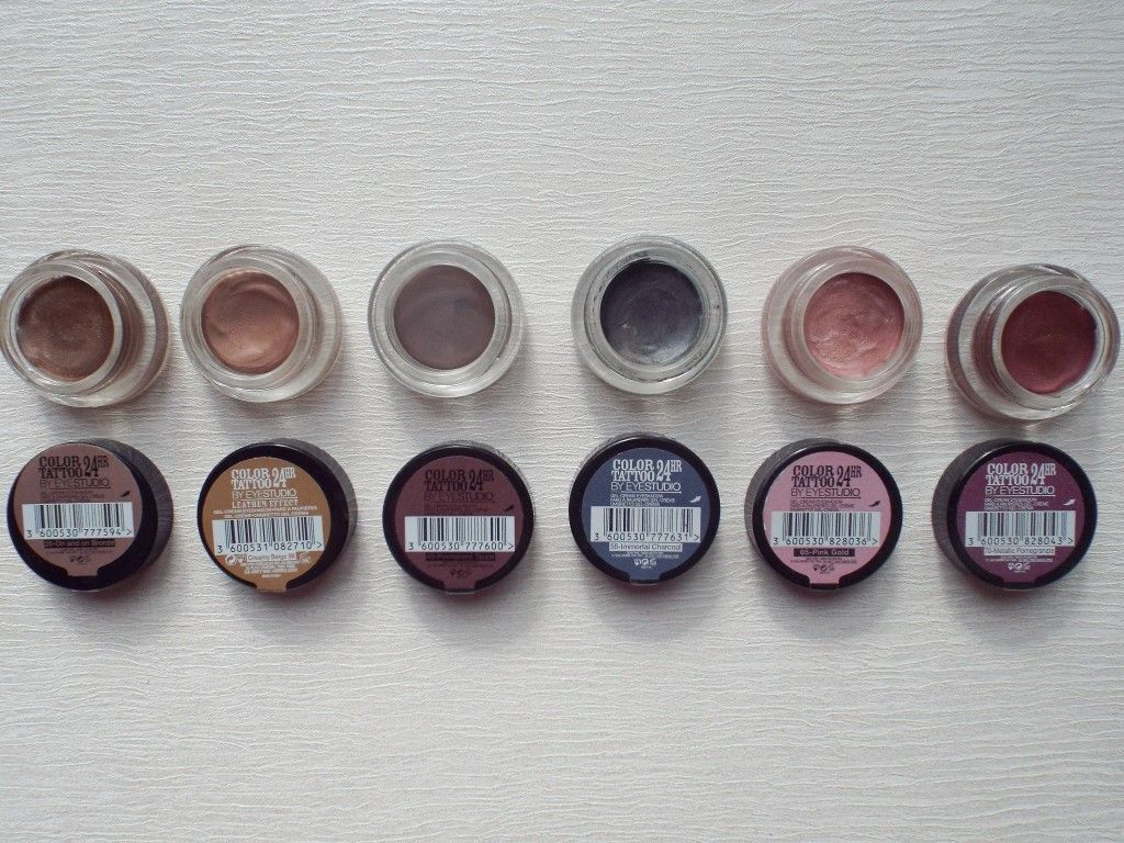 Maybelline Color Tattoo's Review & Swatches emilyloula