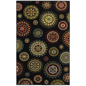 I Love This Rug Shaw Living Dervish 5 Ft X 7 9 In Rectangular Black Transitional Area