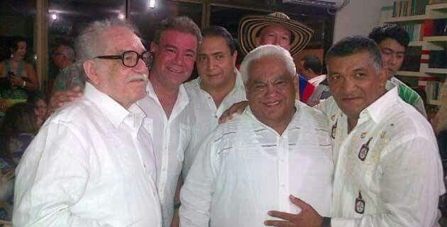 Gabriel García Márquez, Iván Villazón, Pablo López e Ivo Díaz