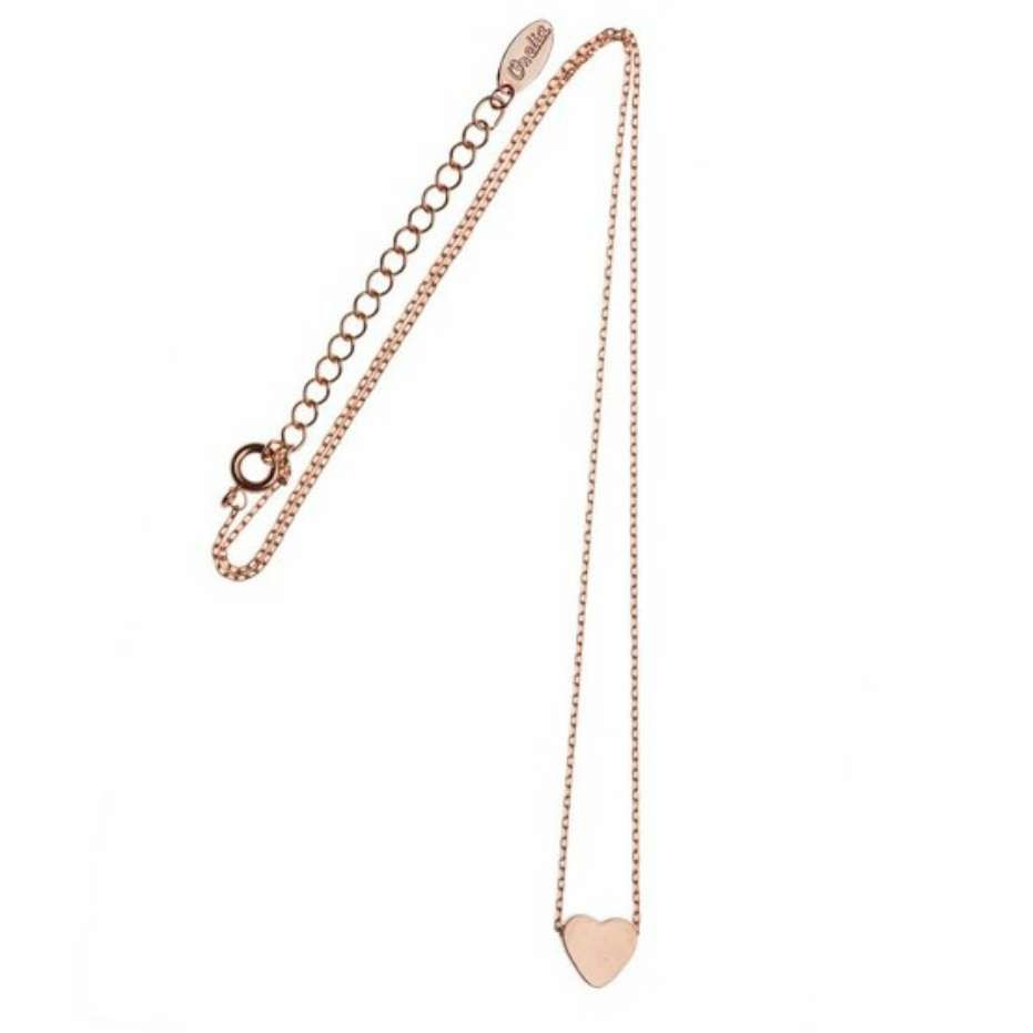 Stunning new version of the classic Orelia Chunky Heart short Necklace. Brand new and exclusive to the website and Topshop Oxford Circus! The Eesha Necklace features the ever popular solid heart pendant in a rose gold colour. An extendable chain and lobster fastening features including the trademark Orelia tag. The Eesha Necklace is also available in gold and silver.