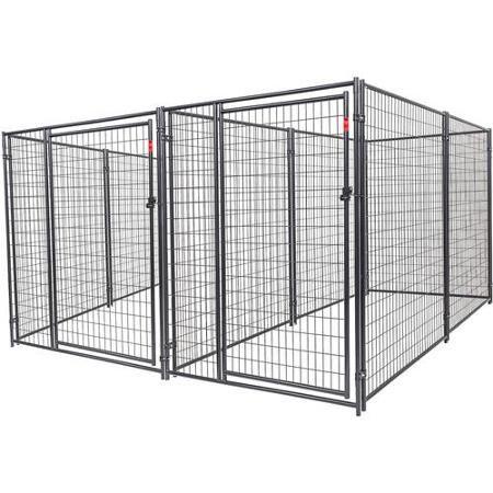 Lucky Dog Heavy Duty Outdoor Dog Kennel 2 Run Black 10 L X 10 W X 6 H Walmart Com Dog Kennels For Sale Dog Kennel Designs Dog Kennel