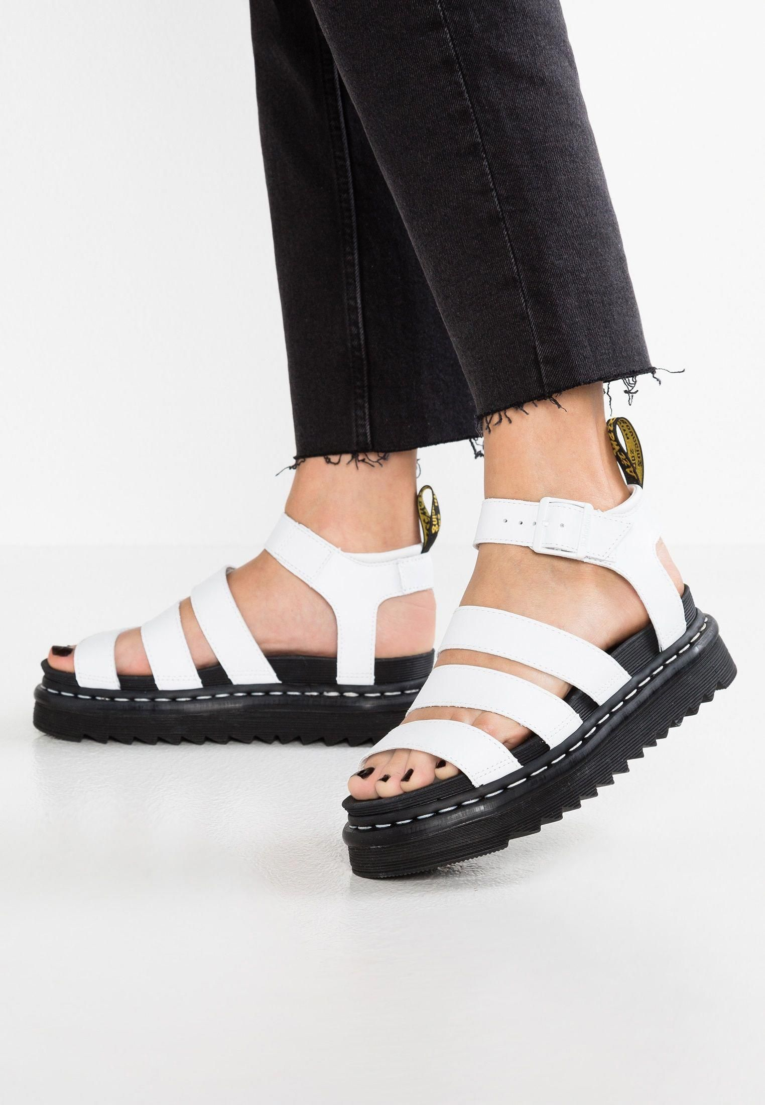 lace up in multiple colors best authentic Dr. Martens BLAIRE - Platform sandals - white - Zalando.co.uk ...