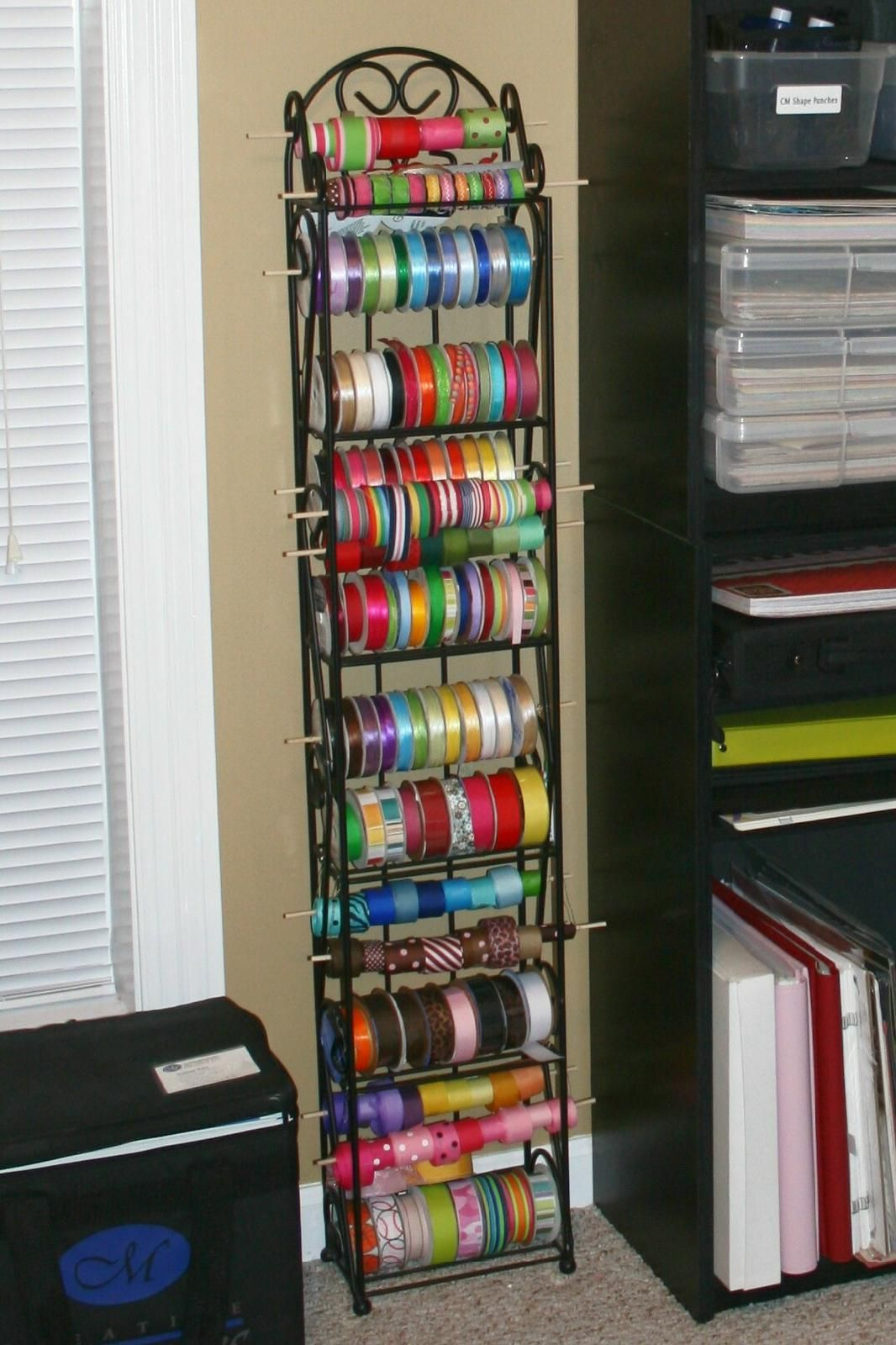 Using A Wine Rack For Ribbon Storage Craft Ribbon Storage