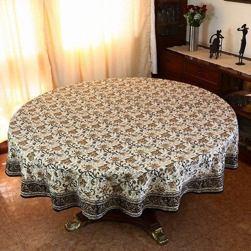 Spring Tablecloth Round 177 Indian Home Decor Floral Cotton by