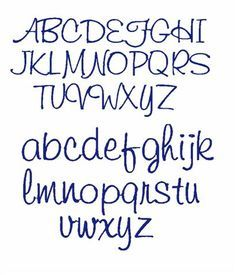 Good Girly Handwriting Alphabet