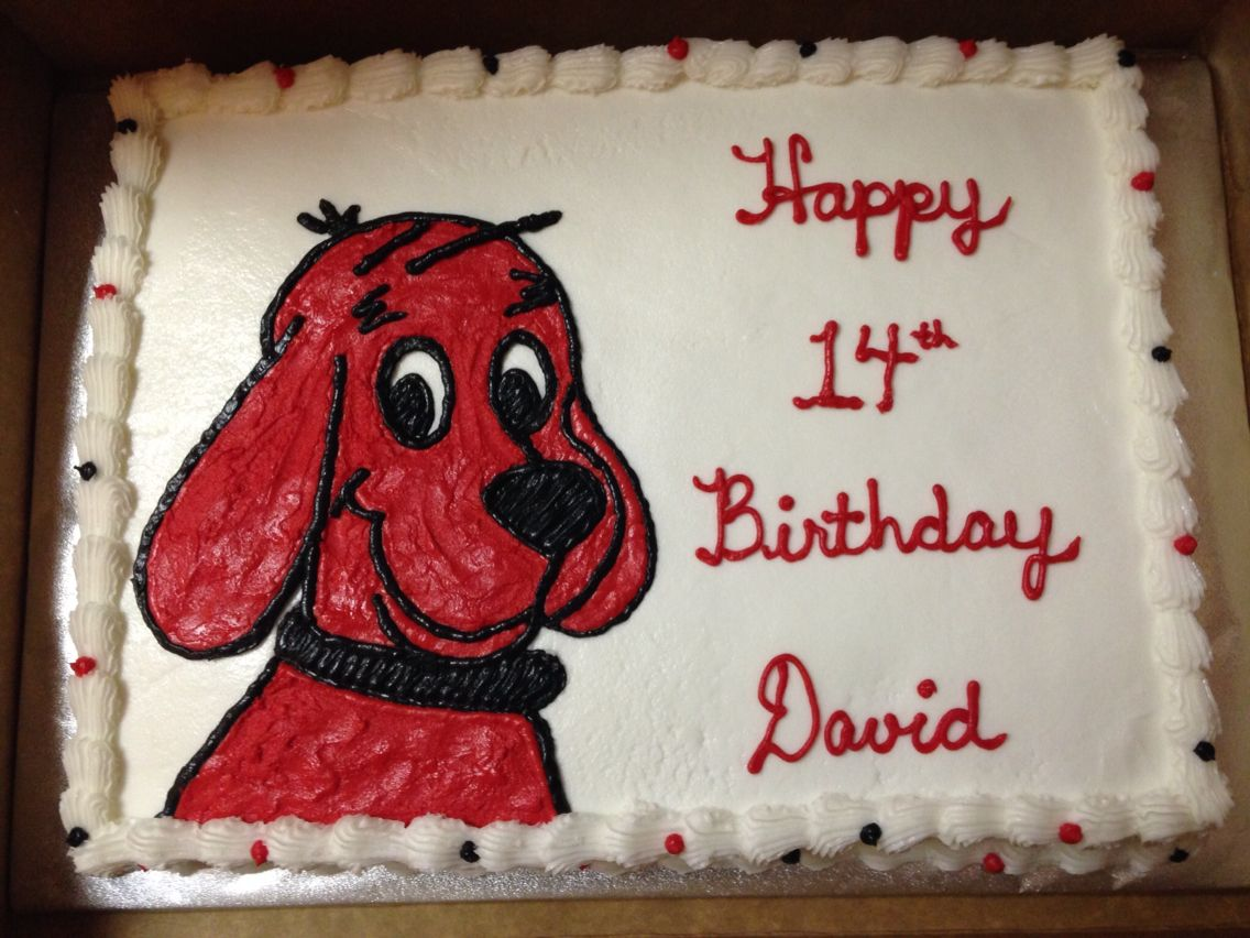 Clifford The Big Red Dog Cake Yummy To Your Tummy