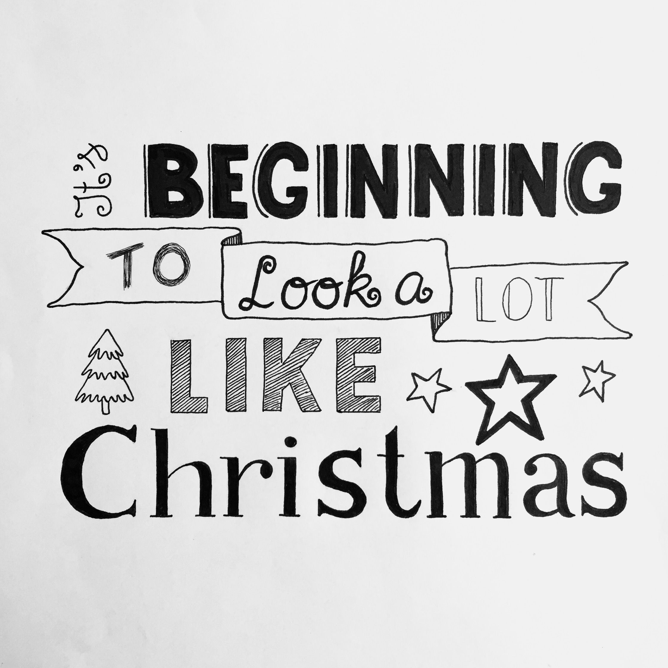 It\'s beginning to look a lot like Christmas. Handlettering Kerst ...