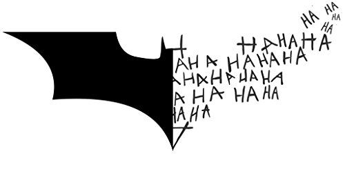 Batman symbol car decal batman logo symbol joker laugh ha ha ha purple