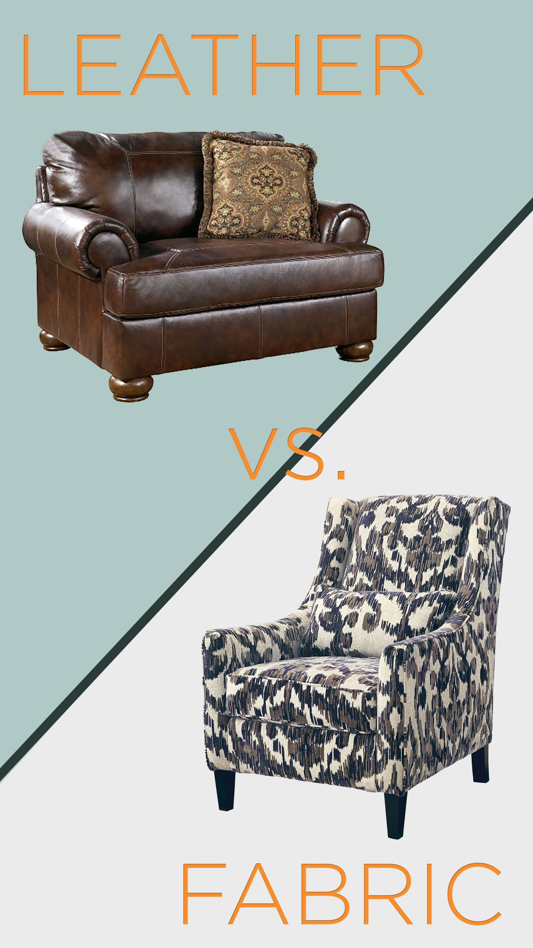 Choosing Between Leather And Fabric Furniture Ashley Homestore Leather Furniture Fabric Furniture