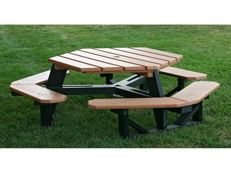 Hexagon Picnic Table Plans Contemporary Hexagon Picnic Table