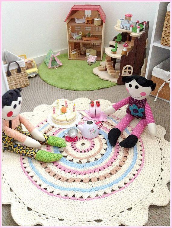 geh kelter teppich teppich hypoallergen regenbogen von stefkowo handarbeiten pinterest. Black Bedroom Furniture Sets. Home Design Ideas