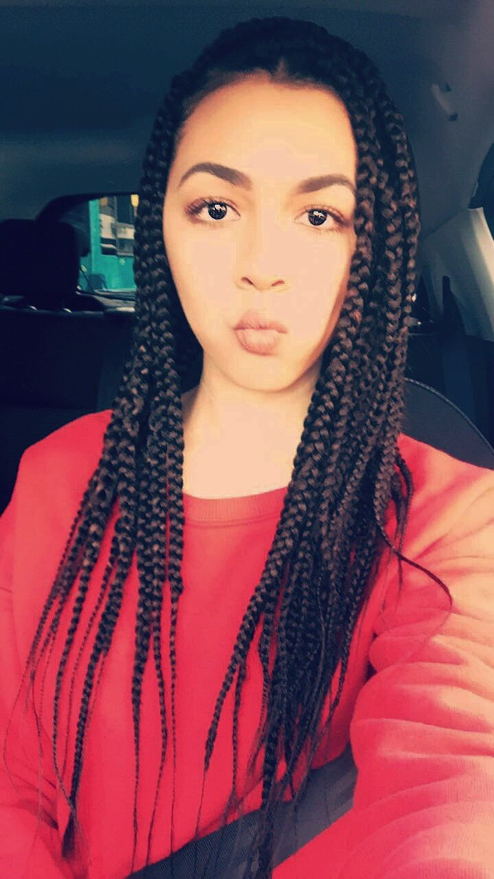 Long Brown Box Braids Extensions Black Hairstyle Black Girl