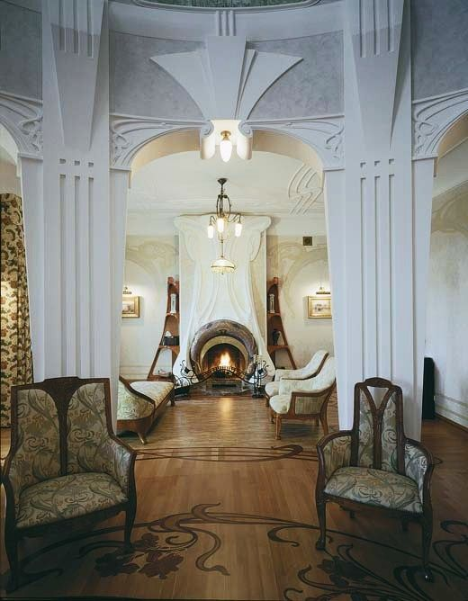 art nouveau style house villa liberty moscow russiaart nouveau style house art - Art Nouveau Interior Design Style