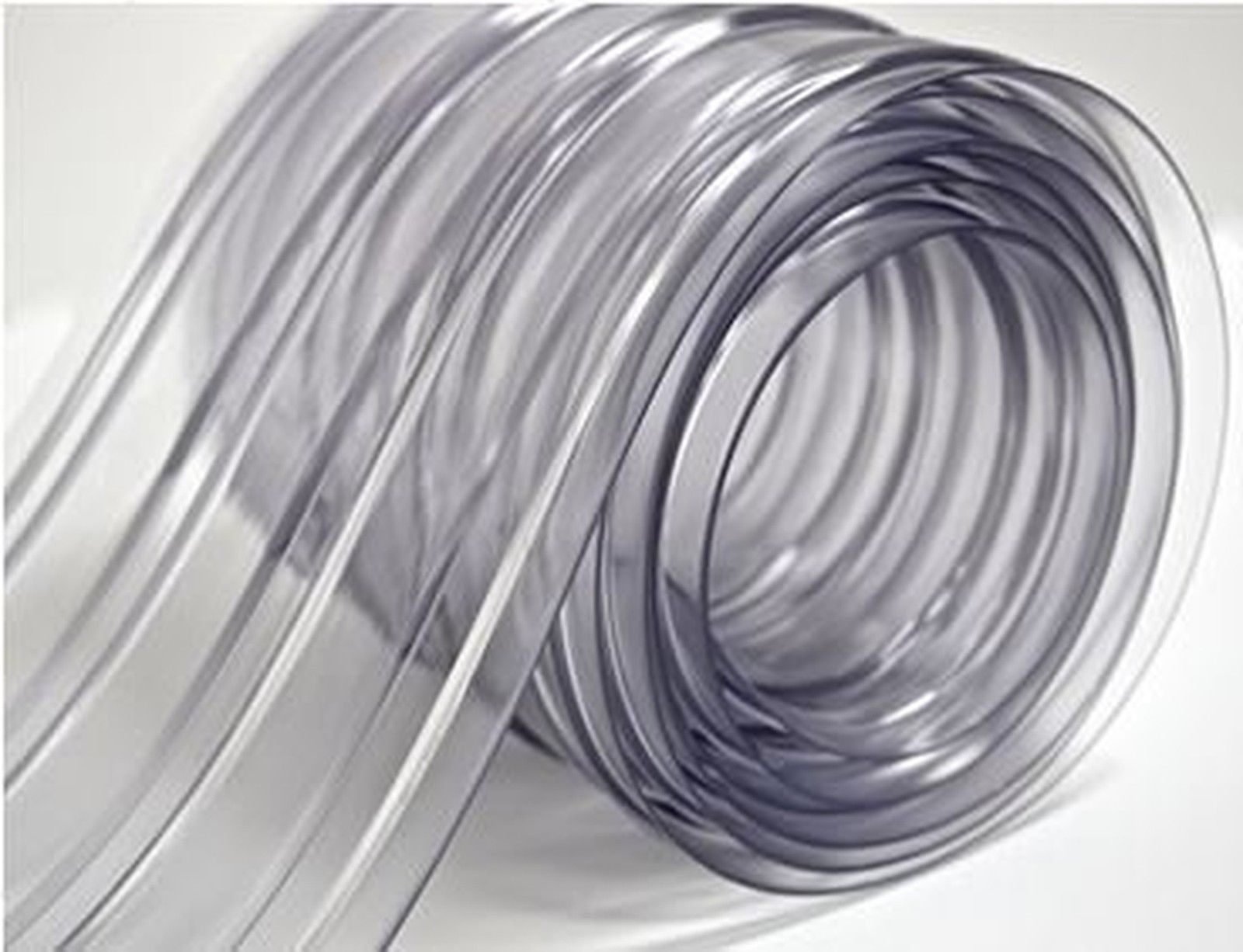 150 Roll 8 Wide Ribbed Pvc Plastic Strip Curtain For Walk In