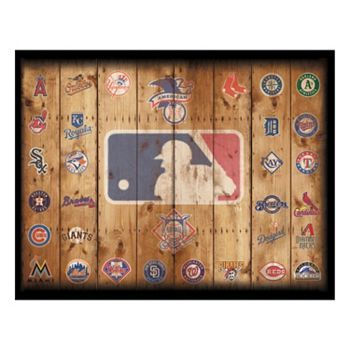 Baseball Teams Rustic Canvas Wall Art | Kohls but on real palettes instead  sc 1 st  Pinterest & Baseball Teams Rustic Canvas Wall Art | Kohls but on real palettes ...