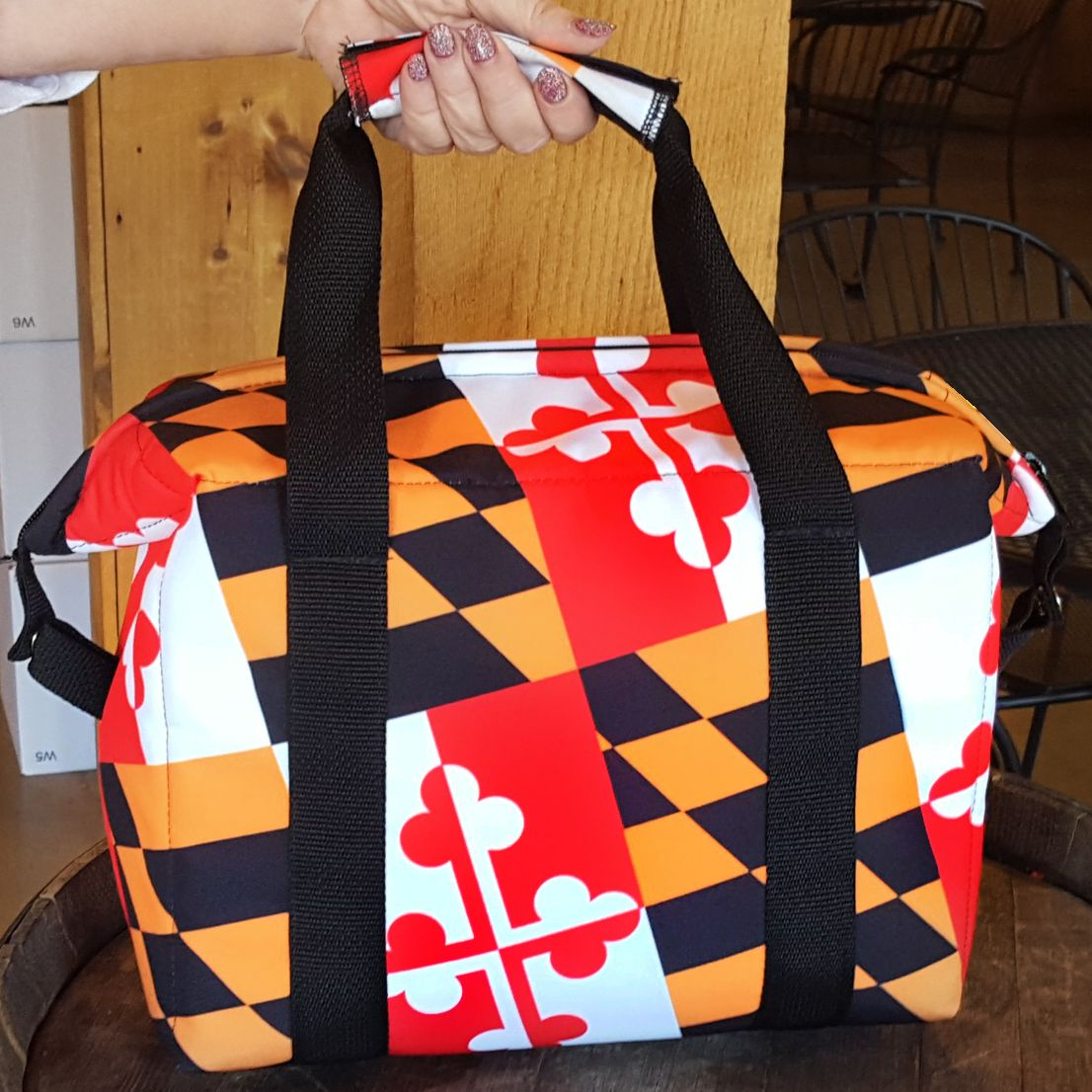 Maryland Flag Insulated Cooler Bag Http Www Wineandbarware Com Maryland Flag Insulated Cooler Bag P 304 Html Cooler Bag Bags Maryland Flag