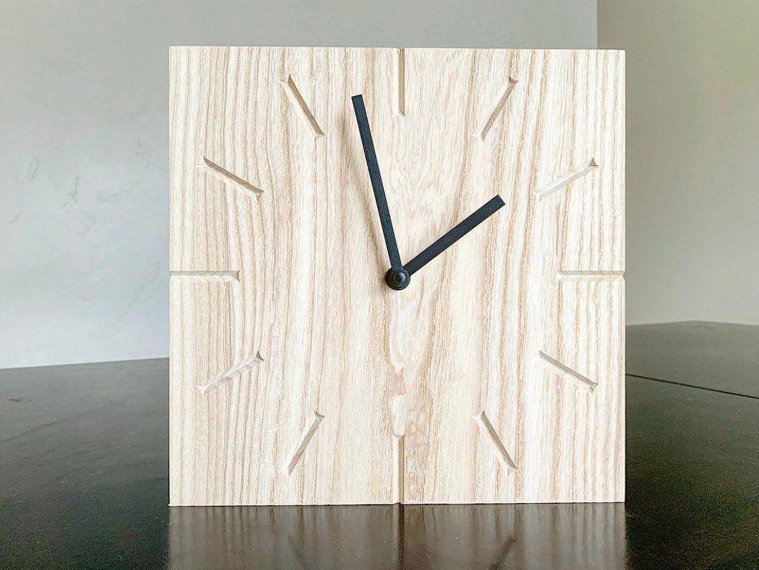 Raw Wood Clock, Wall Clock, Modern Clock, Wooden Wall Clock ...