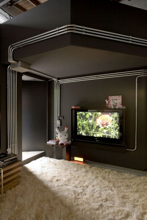 exposed conduit mi casa es su casa loft design house house design rh pinterest com