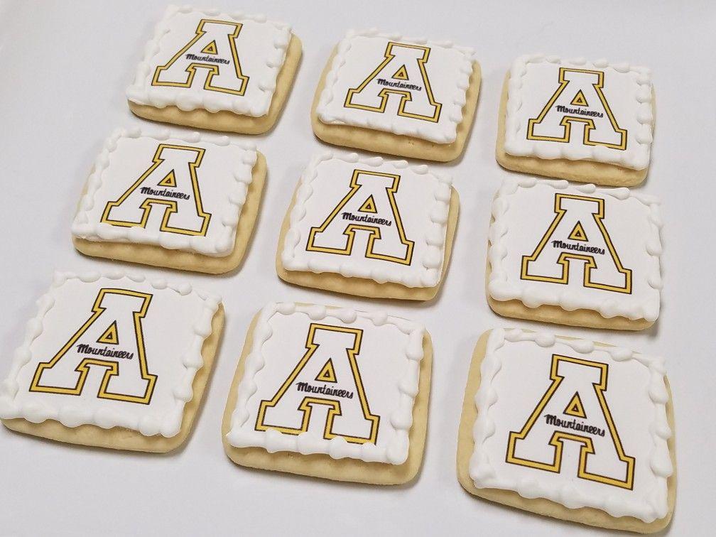 Appalachian State University logo cookies. Logo cookies
