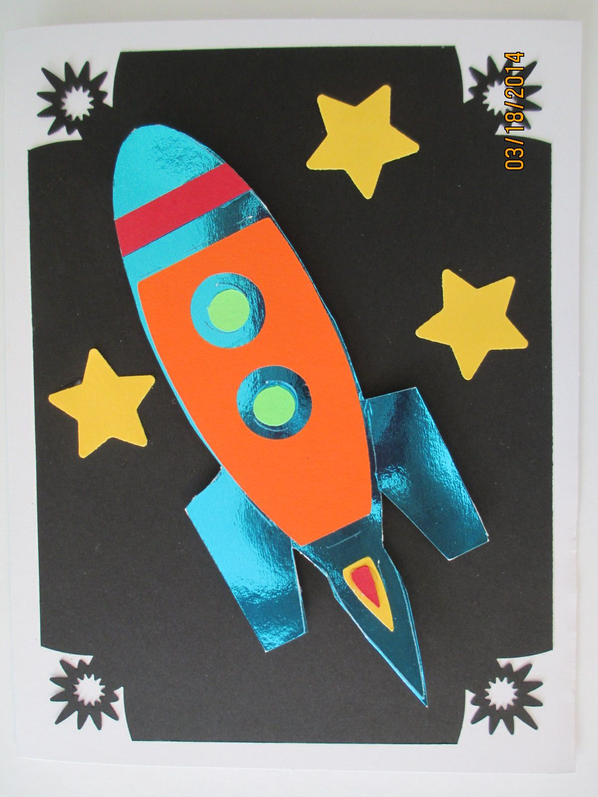rocket ship Cards handmade, Paper crafts, Crafts