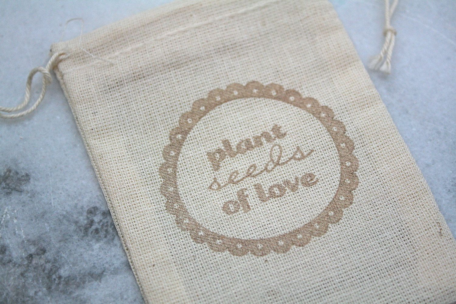 Wedding favor bags - fill with wildflower seeds for guests to plant ...