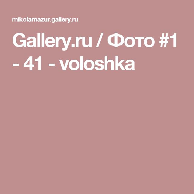 Gallery.ru / Фото #1 - 41 - voloshka