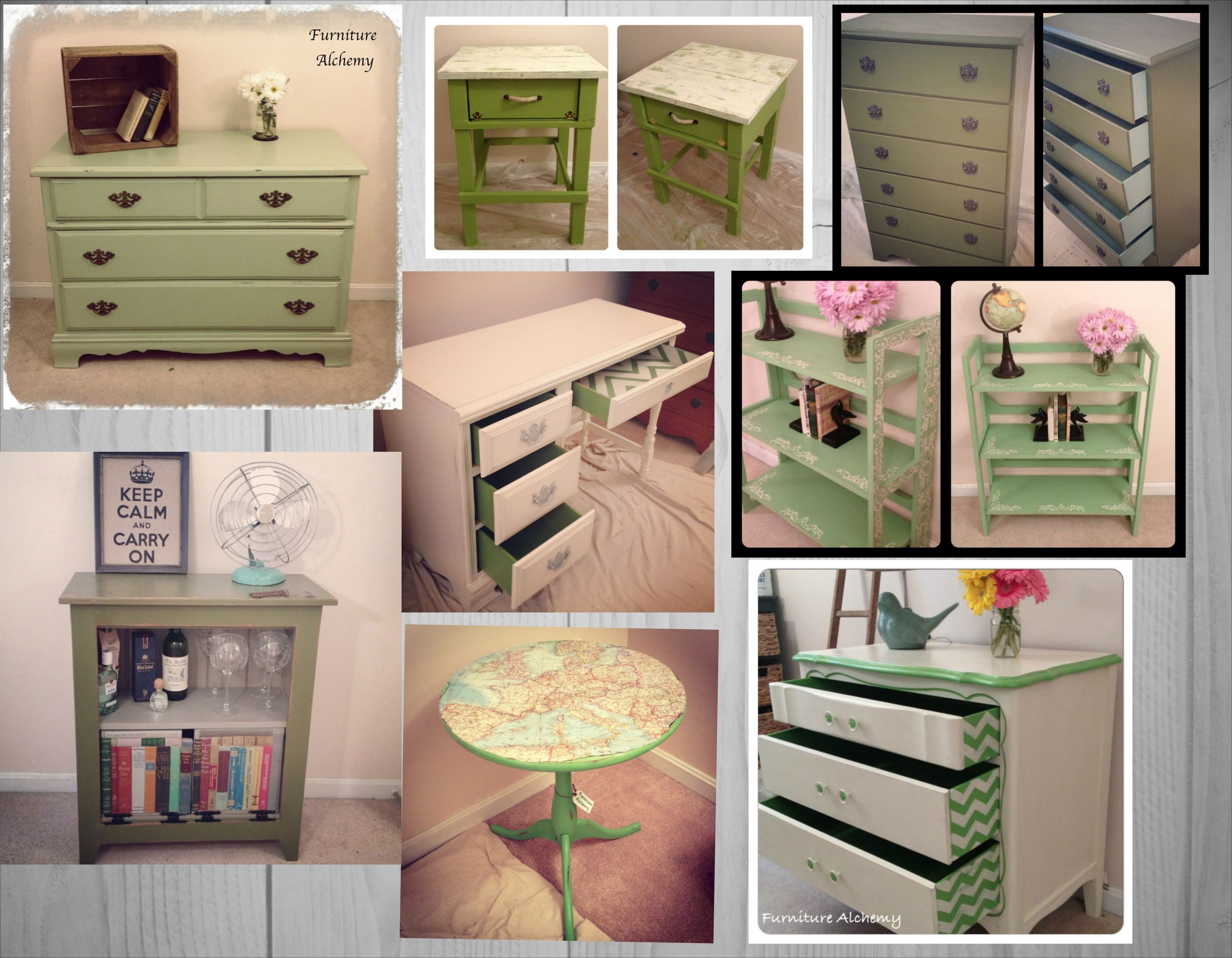 Painted Green Furniture By Furniture Alchemy Painted Furniture