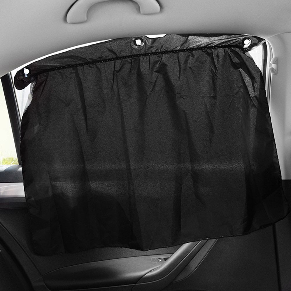 2pcs Side Window Sunshade Car Curtain Universal Suction Cup Mesh