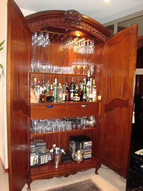 Armario bar muebles de todo tipo y de toda epoca for Mueble bar madera