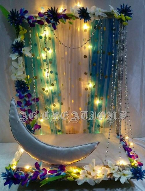Ganpati decoration dream home pooja room pinterest for Artificial flower decoration for ganpati