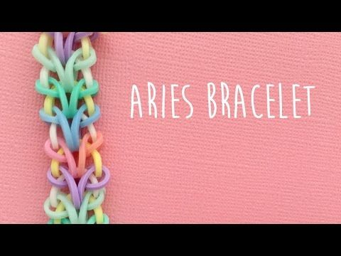 Rainbow Loom Bands Aries Bracelet Tutorial Youtube