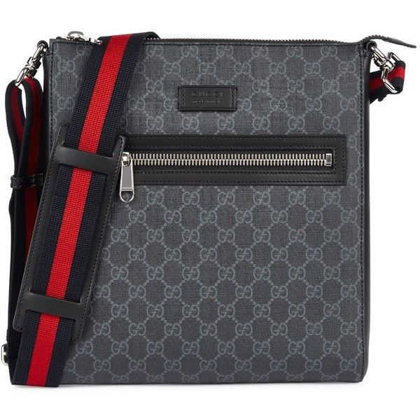 53766db4dfc Gucci GG Supreme Messenger Bag ( 750) ❤ liked on Polyvore featuring men s  fashion