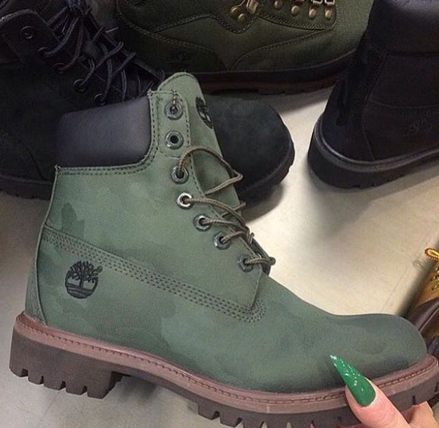 timberland bottes army green with camo