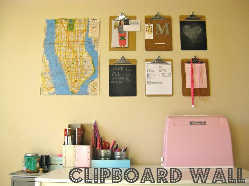 Love the Clipboard Wall for lovely organization! | DIY | Pinterest ...