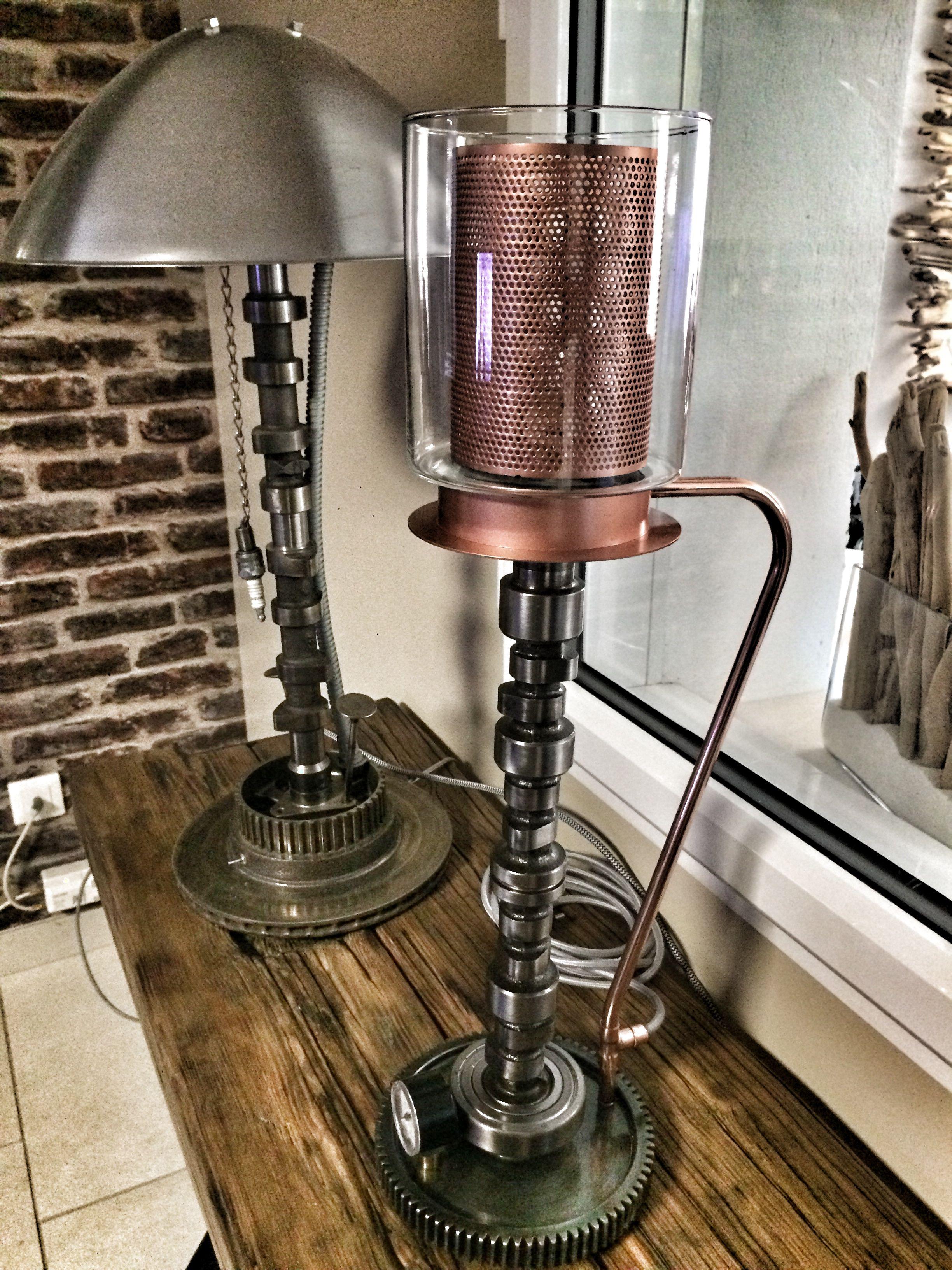 Lampe Industrielle Lampe De Bureau Recyclage Pieces Mecaniques Vintage Industrial Decor Lamp Industrial Decor