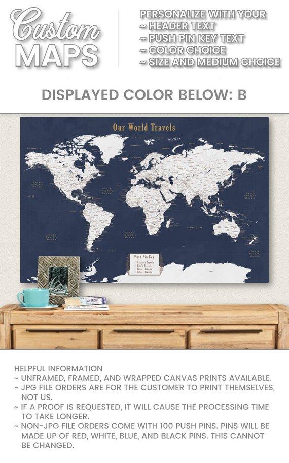 Personalized Us Map.Push Pin World Map Diy Cool Push Pin Map Travel Decor Personalized