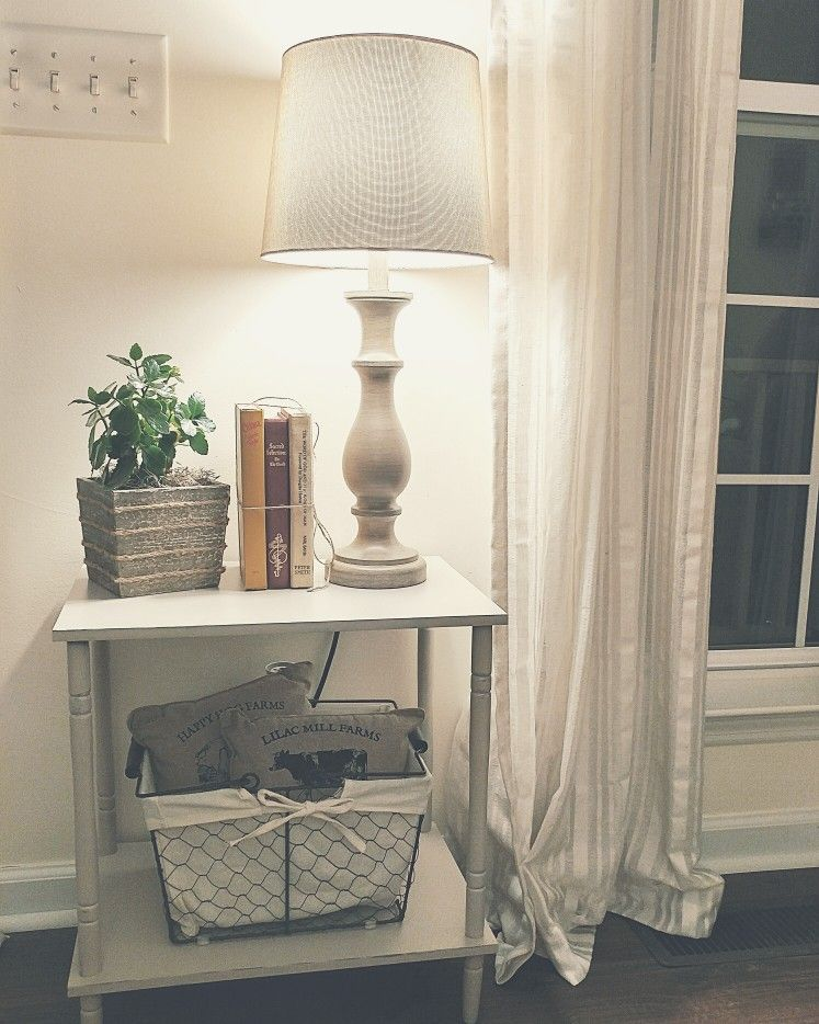 Entry table country white living room farmhouse style wood