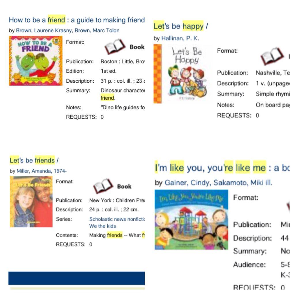 Preschool Books Friends