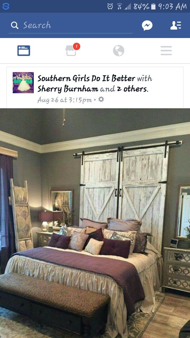 Bedroom ideas window behind bed  love the headboard i would put a window behind it so you could open