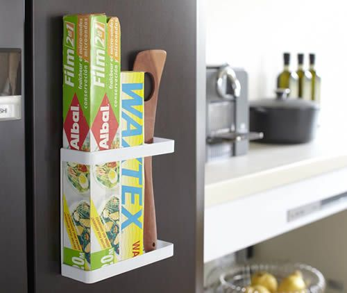 Magnetic Cling Film Foil Holder Tidy Kitchen Organisation Worktop Organisation Cupboard Tidy Kitchenkitchen Rackskitchen Storagekitchen