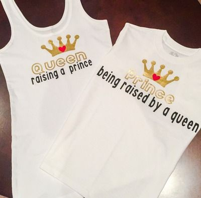 Raising a Princess, Raised by a Queen - Matching Unisex T-Shirt and Baby Bodysuit - Best Matching Family Outfit